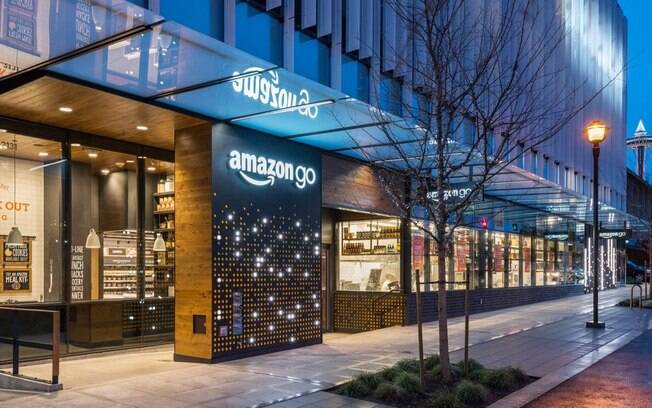 Primeira unidade do Amazon Go está situada em Seattle, nos Estados Unidos; loja tem 167 metros quadrados