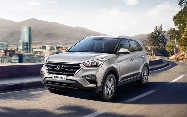 Na lista de seguro dos SUVs, o Hyundai Creta também é dominante