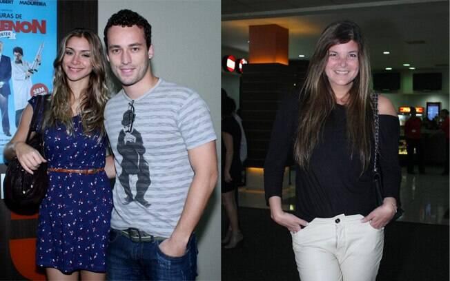 Na esquerda, Rodrigo Andrade e a namorada Milena Torres. Na direita, Cristiana Oliveira