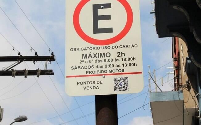 Placas terão QR Code para consulta de ponto de venda de Zona Azul
