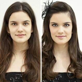 Cabelo e maquiagem de princesa