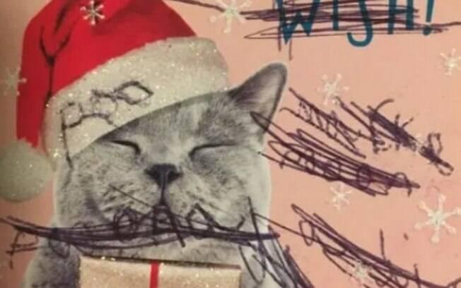 Cartões de Natal continham rabiscos e uma mensagem rude