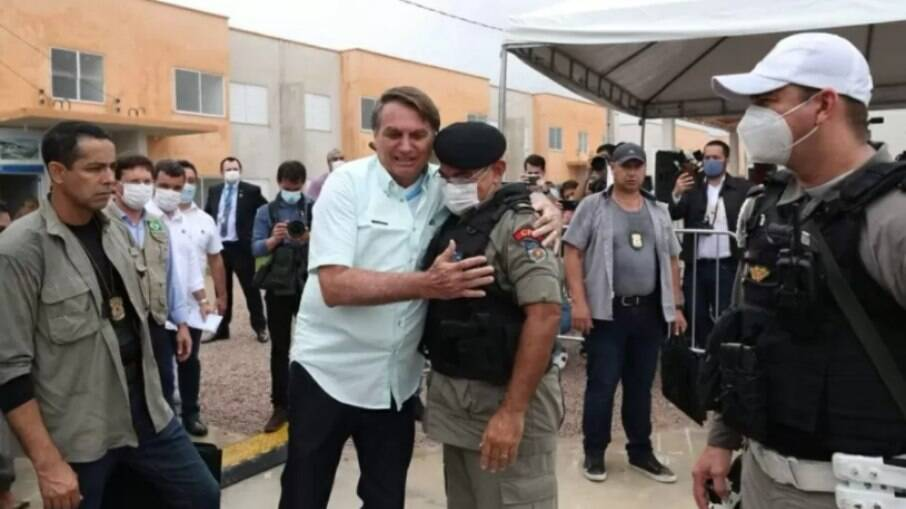 Presidente Jair Bolsonaro e Tenente-Coronel Marcos Vanderlei