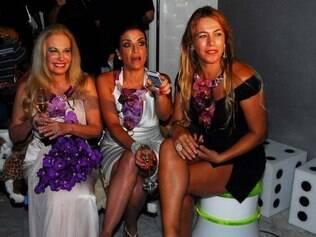 Brunete Fraccaroli, Lydia Sayeg e Débora Rodrigues assistem ao último episódio de