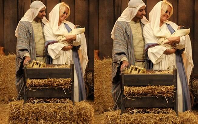 Pamela Anderson vestida de Virgem Maria