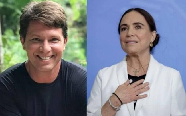 Mario Frias e Regina Duarte