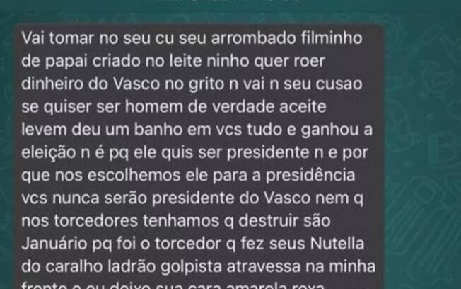 Candidatos à presidência do Vasco recebem ameaças