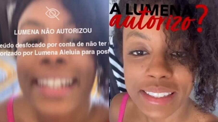 Lumena fez alerta em seu Instagram