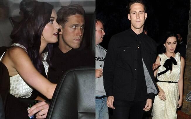 Katy Perry e o namorado em Londres