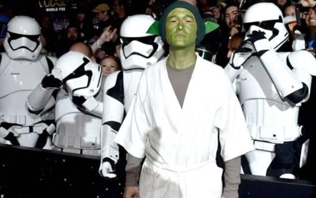 O ator Joseph Gordon-Levitt compareceu de Yoda à premiere do filme nos EUA
