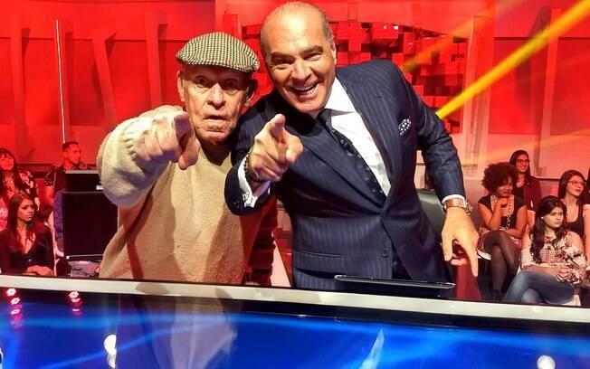 Silvio e Marcelo no programa