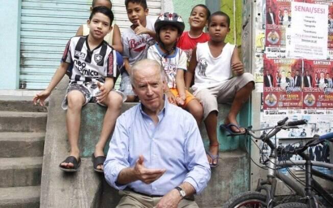 Joe Biden esteve no  Brasil em 2013