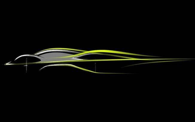 Sketch do Projeto AM-RB 001/Nebula da Aston Martin.