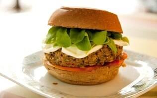 Hambúrguer vegetariano Quitandinha