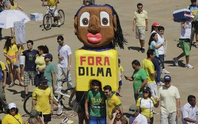 Em Brasília, manifestantes se reuniram na Esplanada dos Ministérios