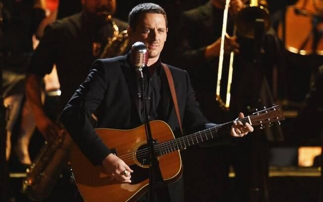 Sturgill Simpson durante show no Grammy 2017
