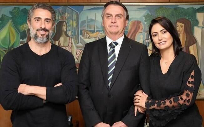 Marcos Mion em encontro com Bolsonaro