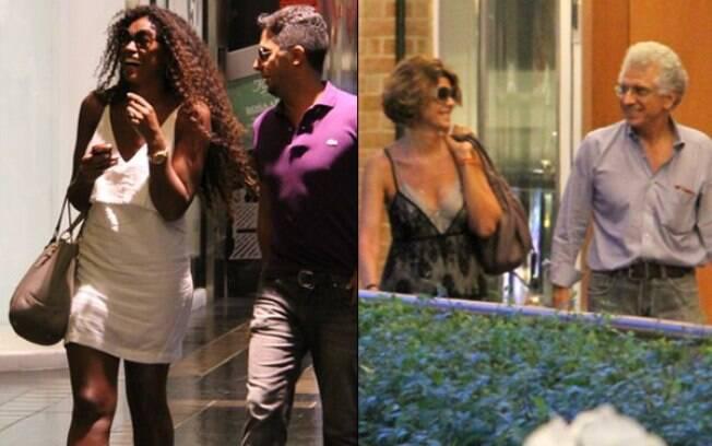 Cris Vianna e Mônica Torres passeiam em shopping carioca