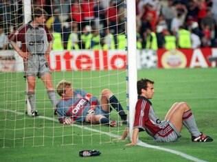 Jogadores do Bayern não acreditam na virada do Manchester United nos minutos finais