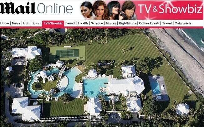 Mansão de Celine Dion em Las Vegas, Estados Unidos, avaliada em US$ 75 milhões (R$ 180 milhões)