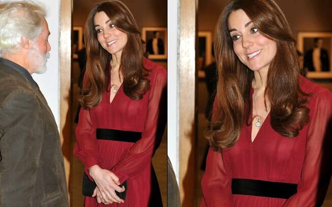Kate Middleton: barriga levemente despontada