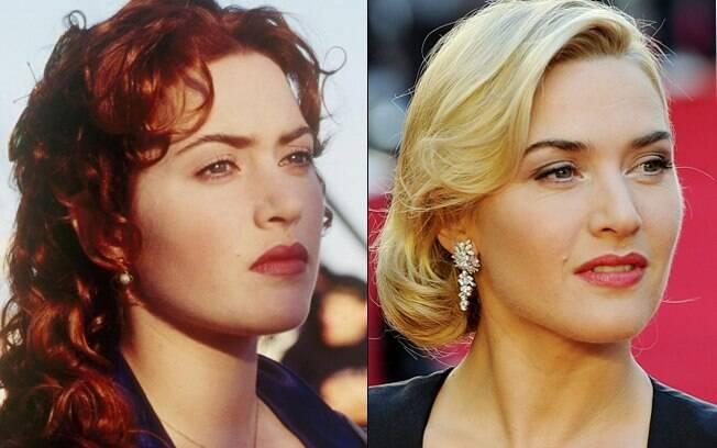 Kate Winslet: em 1998 e 14 anos depois