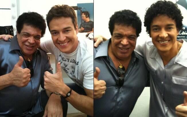 Rodrigo Faro e Wando: só alegria