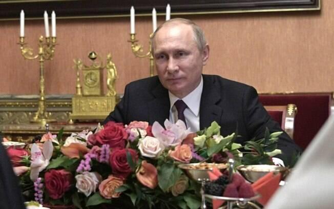 Putin aparece em segundo lugar na lista, mas