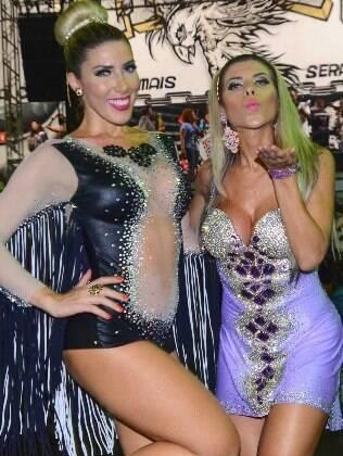 Ana Paula e Tati Minerato sáo musas da Gavióes da Fiel