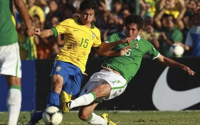 Osvaldo substituiu Neymar no segundo tempo