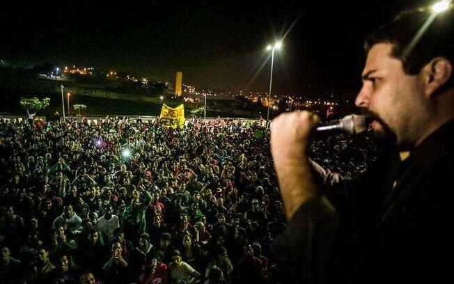 Integrante da coordenação nacional do MTST, Guilherme Boulos pode ser candidato ao Planalto pelo PSOL