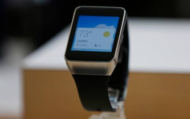 12689d84107 Gear Live é primeiro relógio da Samsung com Android Wear. Foto  Getty Images