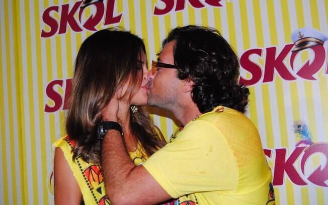 Emilio Orciollo Netto e a namorada Mariana Barreto