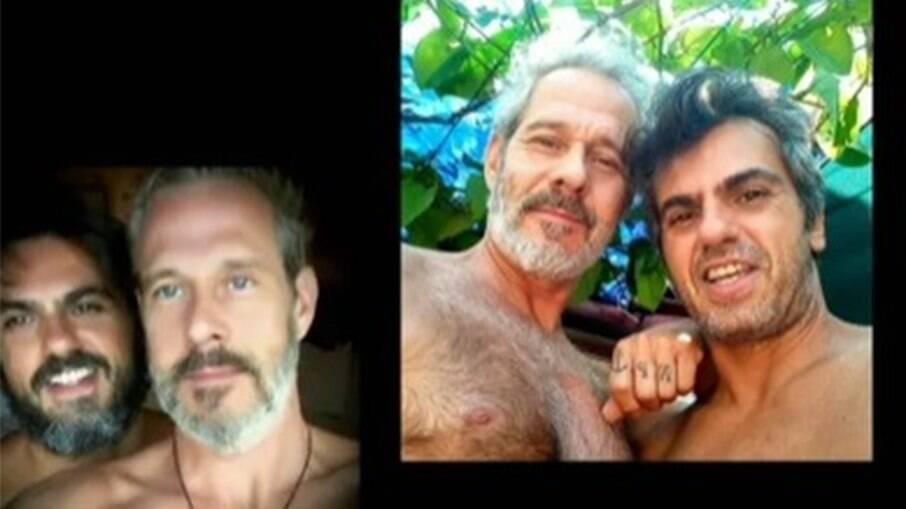 Ator Nico Puig e o marido Jeff Lattari