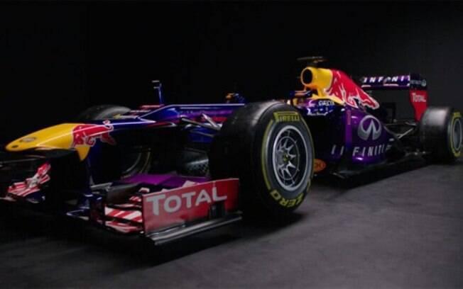 Novo carro da Red Bull tem detalhes em roxo