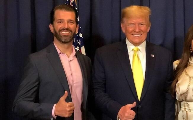 Trump Jr. quer debater com filho de Joe Biden