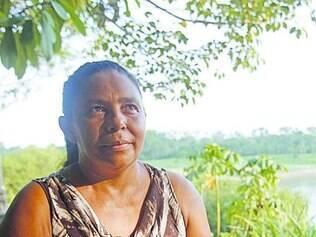 Maria do Carmo, do seringal Bagaço, não viu santinhos de Marina