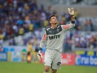 Victor celebrou o gol de Rafael Carioca, que por pouco, não deu a vitória ao Galo