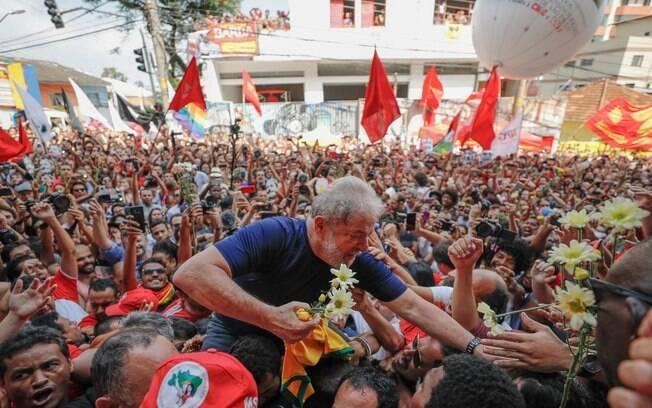 Ex-presidente Lula em 2019 no Sindicato dos Metalúrgicos