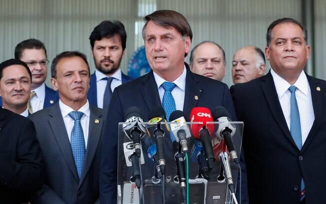 Jair Bolsonaro em anúncio do Renda Cidadã, programa que substituirá o Bolsa Família, nesta segunda