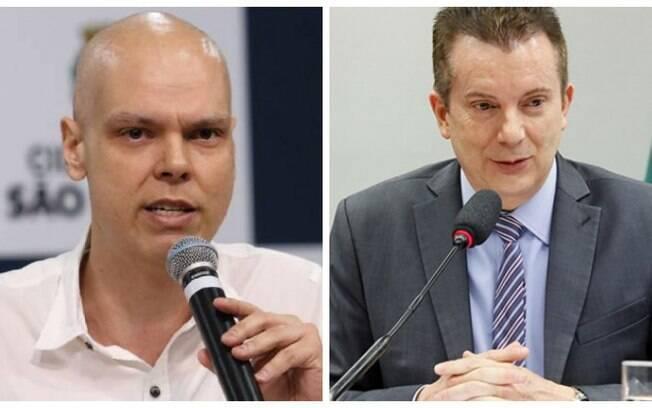 Bruno Covas (PSDB) e Celso Russomanno (Republicanos) participaram de um debate ao lado de Guilherme Boulos (PSOL) e Márcio França (PSB) na manhã desta quarta (11)
