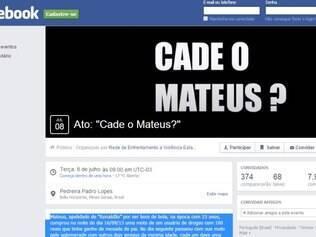 Pela página do evento no Facebook, 374 pessoas confirmaram presença no ato