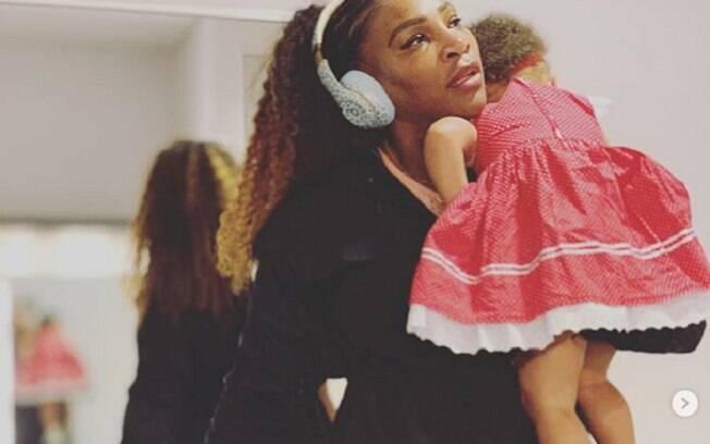Serena Williams com a filha Alexis Olympia