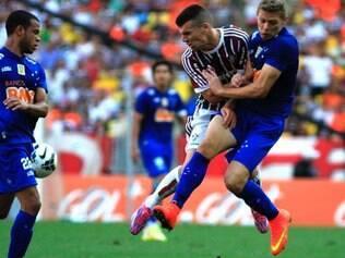 Duelo entre Cruzeiro e Fluminense terminou empatado em 3 a 3