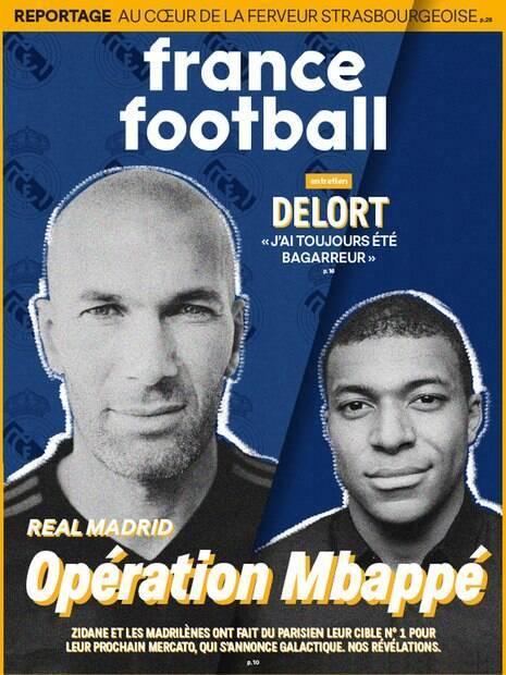 France Football estampa em sua capa o interesse de Zidane em ter Mbappé no Real Madrid