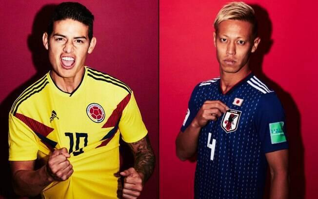James Rodríguez e Honda são mentes pensantes nas seleções de Colômbia e  Japão na Copa do baf00005e4146