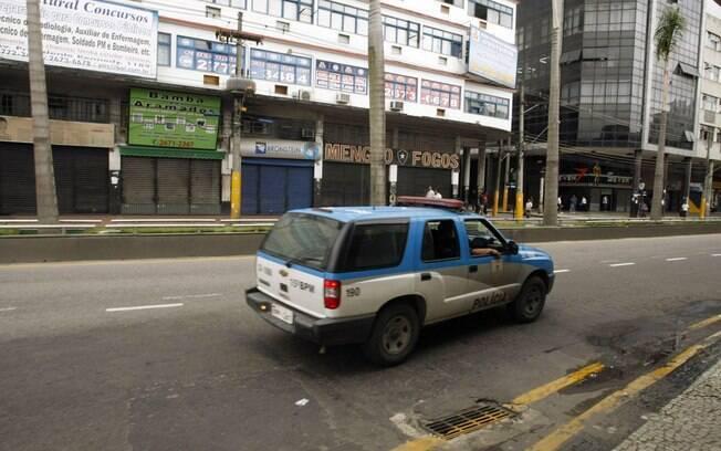 Comércio fechado no Rio de Janeiro