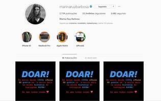 """Marina Ruy Barbosa tem o Instagram hackeado: """"providências estão sendo tomadas"""""""