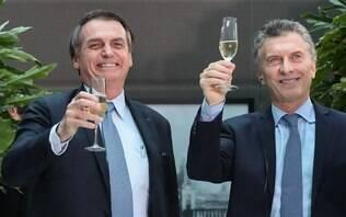 """""""Primeiro passo para o sonho"""", diz Bolsonaro sobre moeda única Brasil-Argentina"""