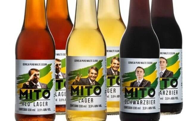 Cerveja Mito, criada a pedido do senador Flávio Bolsonaro, fazia parte da campanha do presidente Jair Bolsonaro